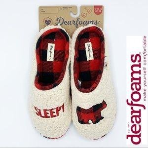 DEARFOAMS Sleep Like a Bear Memory Foam Slippers